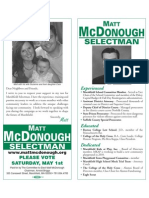 Matt McDonough - Selectman
