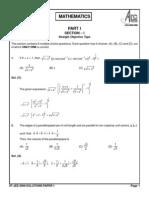 IIT JEE 2008 Solution Paper 1