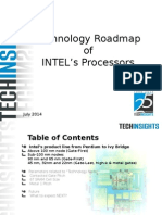 TechInsights Technology Roadmap INTEL Processors 2014