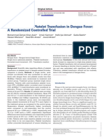 RCT Platelet Transfusion in Dengue