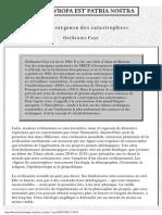 Faye Guillaume La Convergence Des Catastrophes