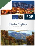 2013 Freedom Conference Program