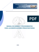 Manual Final de Modificaciones Presupuestarias