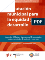 Tributación municipal para   la equidad y el desarrollo