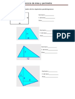 Calcular El Área y Perímetro de Los Siguientes Paralelogramos