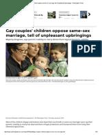 Matrimonio y adopcion por parejas del mismo sexo