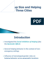 Sex, Group Size and Helping in Three Cities Presentation