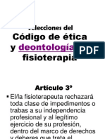 Selecciones Del Código Deontológico Del Fisioterapeuta
