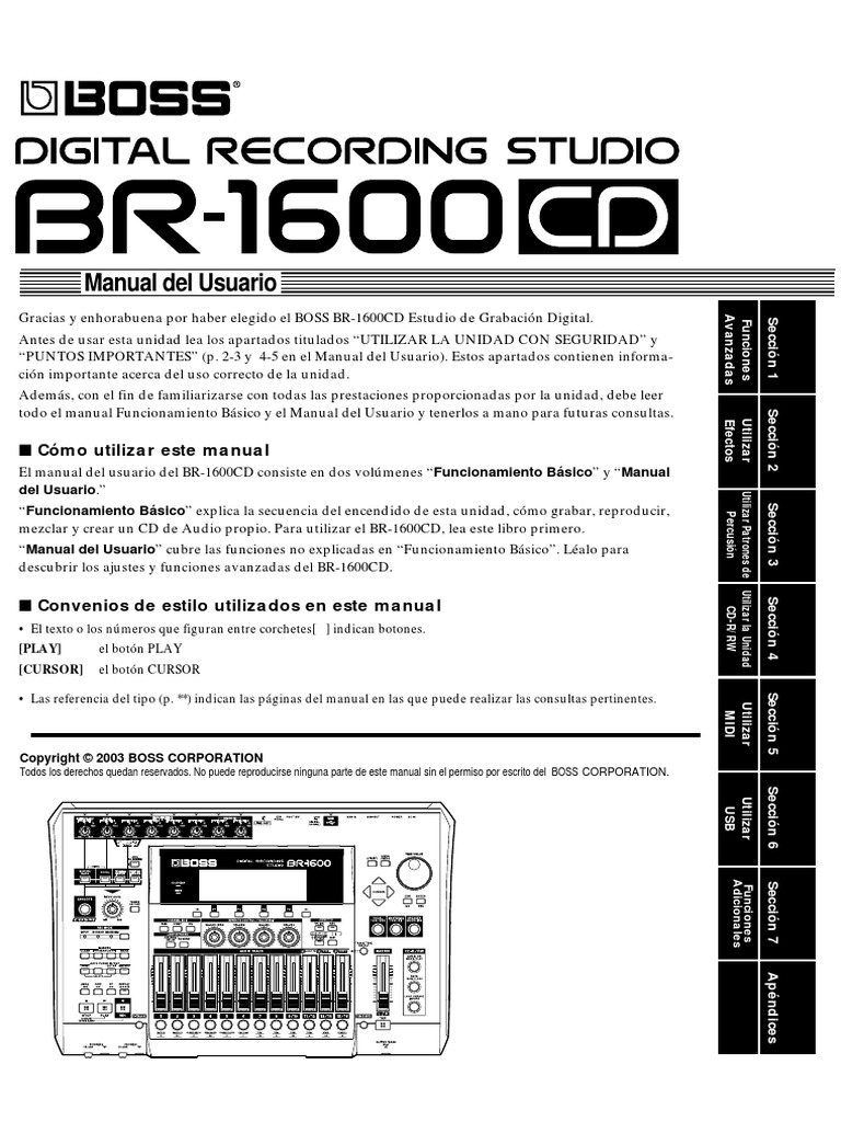 BR-1600CD Manual en Español