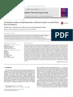 Correlation Studies of Hydrodynamics and Heat Transfer in Metal Foam