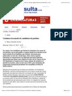 18-01-15 Continua el acomodo de candidatos de partidos | e-consulta.com | Periódico Digital de Noticias de Puebla| México 2014 |