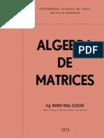 Algebra de Matrices - Mario Raul Azocar