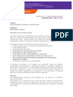 Comunicado JSN 13 021