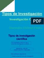 Tipos de Investigacion Cientifica
