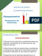 Estequiometria-preparación de Soluciones
