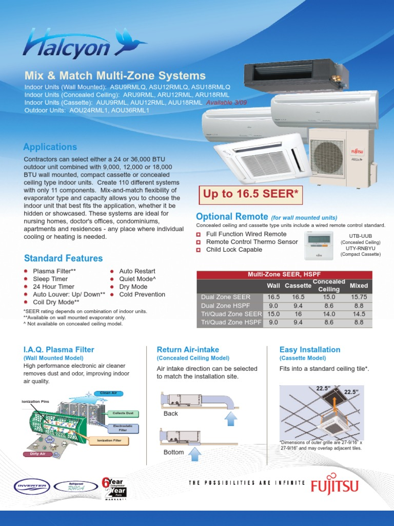 download manual not specified fujitsu air conditioner aou36clx1 Array -  fujitsu halcyon multi zone heat pump systems brochure air rh scribd com