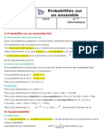 Probabilites Sur Un Ensemble Fini.