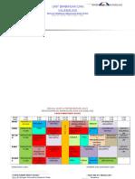 Jadual Waktu Peribadi Fatin Pertama 2015