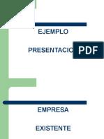 Ejemplo 1 Empresa Existente