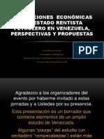 Instituciones Economicas Del Rentismo Petrolero en Venezuela Mora