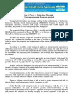 jan17.2015Creation of Poverty Reduction Through Social Entrepreneurship Program pushed