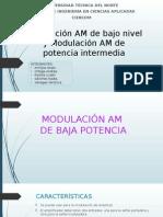 Modulación AM de Bajo Nivel y Modulación AM