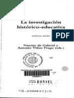 De Gabriel y Viñao (1997) La Investigación Histórico-educativa 2