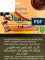 Hari-hari Bersama Sunnah Rasulullah -Shallallaahu 'Alaihi Wa Sallam