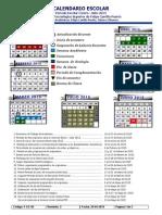 Calendario Institucional Enero - Julio 2015