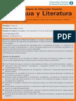 Prof. Lengua y Literatura UNGS