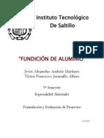 Proyecto Fundicion de Aluminio