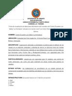 Ficha de Recopilación de Datos Para Información Del Inventario Del Centro Ecuestre Los Saltos