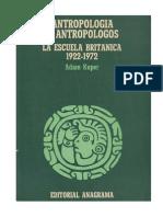 Kuper Antropologia y Antropologos