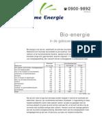 Bio-energie in de bebouwde omgeving