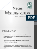 Metas Internacionales Seguridad del Paciente