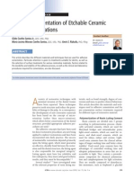 Adhesive Cementation of Etchable Ceramic Esthetic Restorations