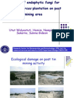 Prospect of Endophytic Fungi for Jathropha curcas Plantation on Post Mining Area