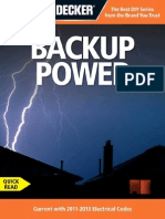 Black & Decker Backup Power Current With 2011-2013 Electrical Codes