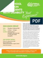 CDA Post School Transition Flyer