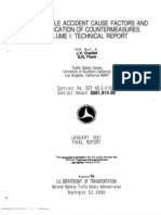 Motorcycle Accident Cause Factors and Identification of Countermeasures Volume I- Technical Report