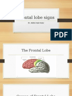 Frontal Lobe Signs