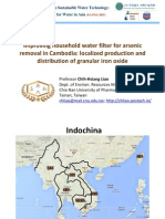 Improving household water filter for arsenic removal in Cambodia