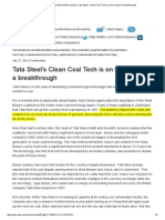 Tata Group _ Tata Steel _ Media Reports _ Tata Steel's Clean Coal Tech is on the Verge of a Breakthrough