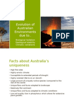 evolution of australian environments