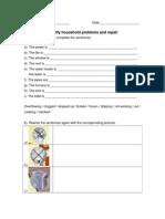 household problems  repairs worksheet copy