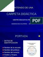 Carpeta Didáctica 2014-2015