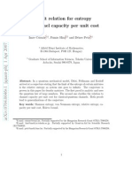 A Limit Relation for Entropy and Channel Capacity Per Unit Cost