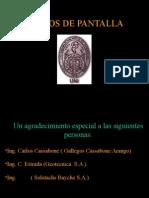 MURO DE PANTALLA CIMENTACIONES ESPECIALES CALZADURAS