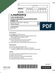 IGCSE Chemistry Past Paper 1C (New Syllabus)