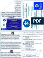 Programa del Concierto Lírico a beneficio de ASPERCAN, lema